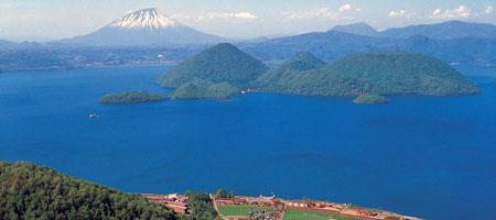 Lake Toya in Hokkaido, Japan