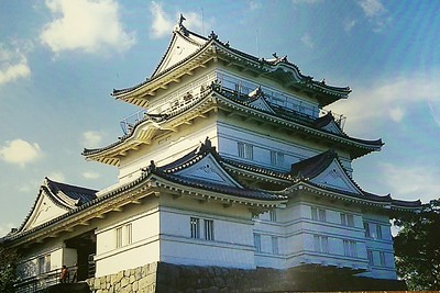 Closeup of Odawara castle in Japan
