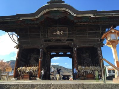Gate of the Zenkoji temple in Nagano, Japan