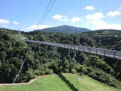 Kokonoe Yume Otsuribashi bridge in Oita, Kyushu, Japan