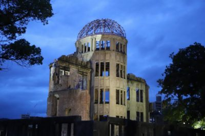 The atomic bomb dome in Hirosihma, Japan