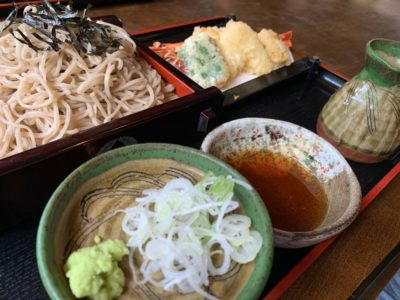 Japanese tenpura soba