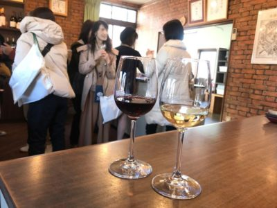 Japanese winery wine tasting during a Japan tour