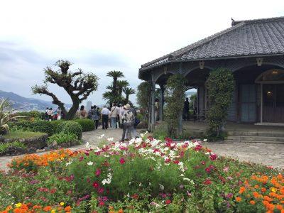The house and garden of Glover Garden in Nagasaki, Japan