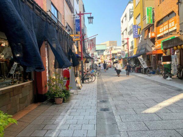 Local street in Monzennakacho, Tokyo