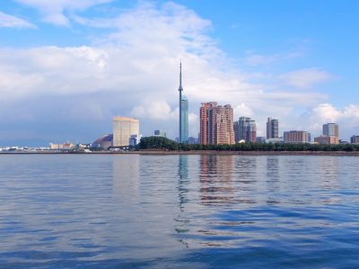Fukuoka cityscape in Fukuoka (or Hakata), Kyushu, Japan