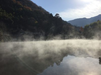 Misty Kinrinko lake in Yufuin, Kyushu, Japan
