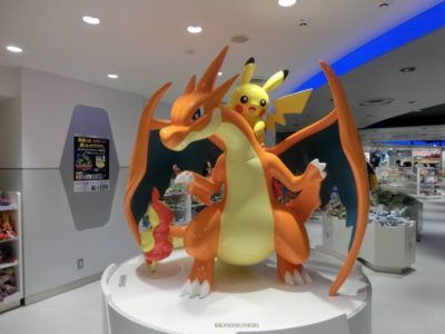 Large statue in the Pokemon store in Ikebukuro, Tokyo, Japan