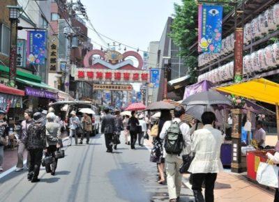 The main shopping street in Sugamo Grandma's Harajuku