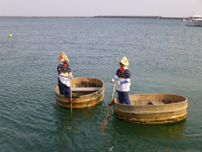 Taraibune tub boats in Sado Island, Niigata, Japan