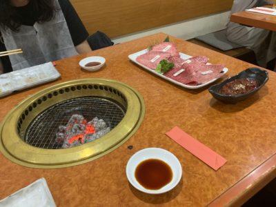 Wagyu beef in Monzennakacho on a barbeque