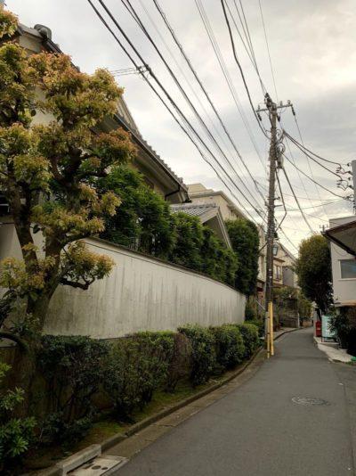 Quiet street in central Tokyo