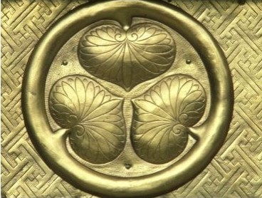 Golden Tokugawa symbol on a shrine
