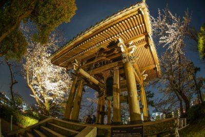 Belfry in a Buddhist temple in Japan