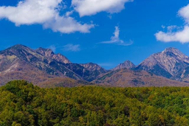 Yatsugatake mountain range in Nagano, Japan