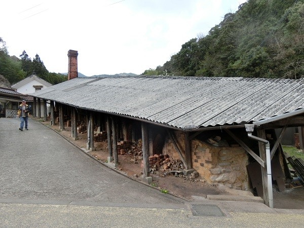 A climbing kiln for making pottery in Onta, Japan