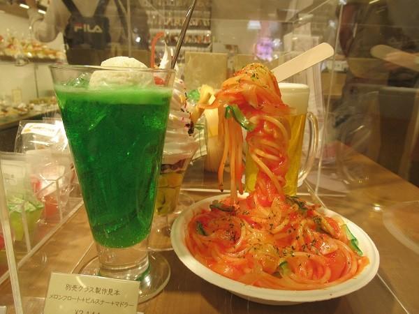 Plastic food samples in Kappabashi, Tokyo, Japan