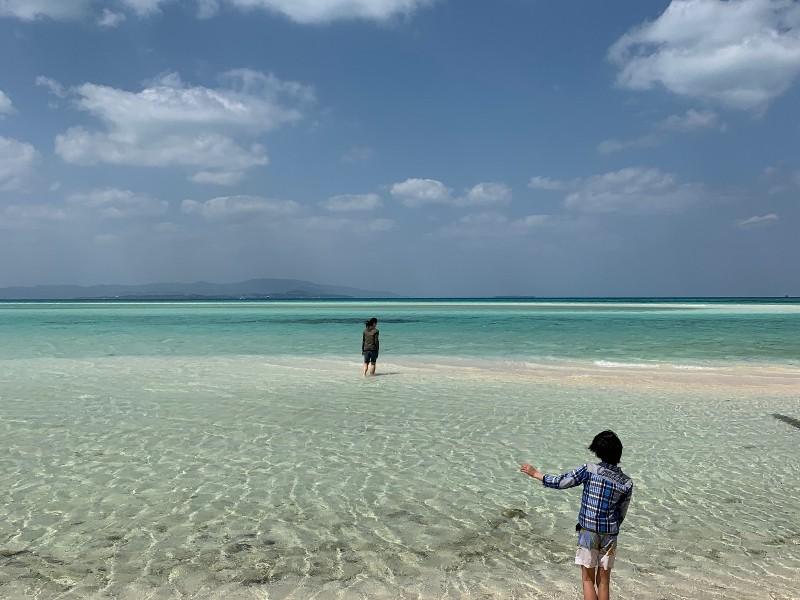 Kondoi beach in Taketomi, Okinawa, Japan