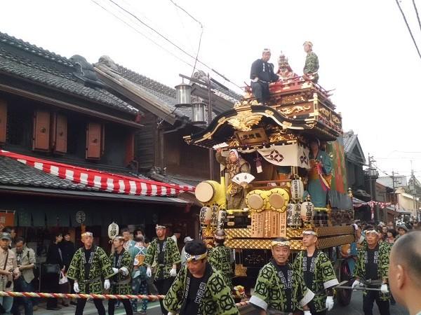 Kawagoe Matsuri festival in Japan