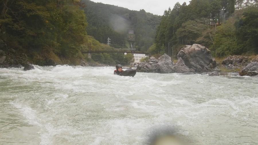 Riverboarding experience in Tama, Japan