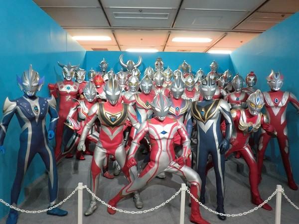 Ultraman anime figurines in Japan